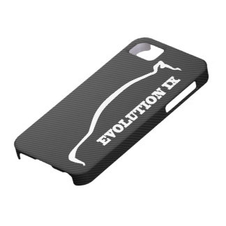 Mitsubishi Evo IX White Silhouette & Faux Carbon iPhone 5 Cases
