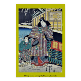 Mitsuji near a carriage by Utagawa,Kunisada Print