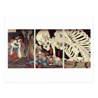 Mitsukini Defying the Skeleton Spectre, c.1845 Postcard