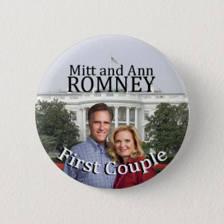 Mitt and Ann Romney First Couple 6 Cm Round Badge