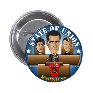 Mitt Fix It - State of Union 6 Cm Round Badge