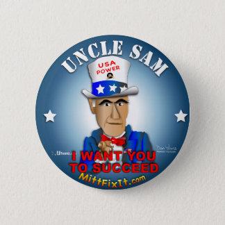 Mitt Fix It - Uncle Sam 6 Cm Round Badge