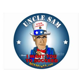 Mitt Fix It - Uncle Sam Postcard