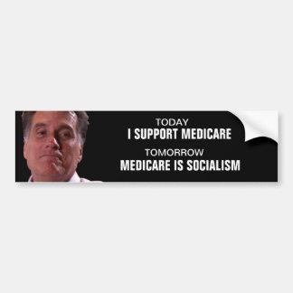"Mitt ""flip flop"" Romney on Medicare Bumper Stickers"