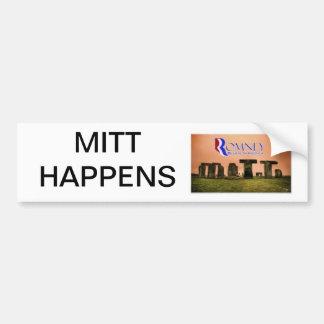 Mitt Happens Car Bumper Sticker