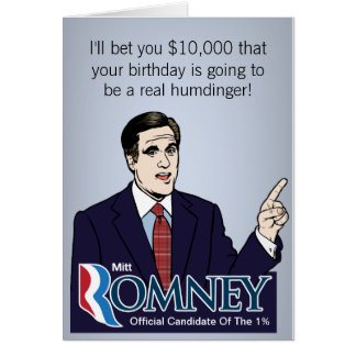Mitt Romney $10k Bet Greeting Cards