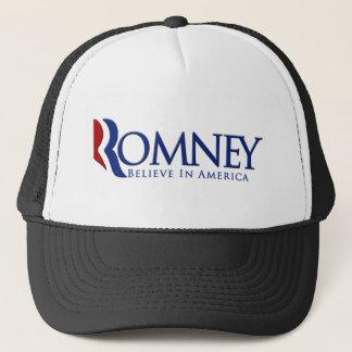 Mitt Romney 2012 Believe in America Trucker Hat