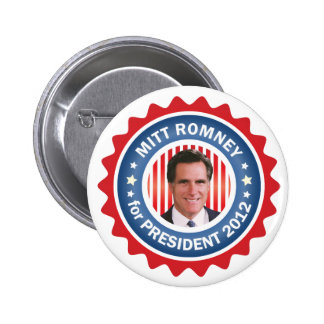 Mitt Romney 2012 for US President 6 Cm Round Badge