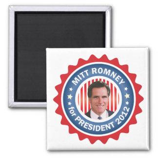 Mitt Romney 2012 for US President Square Magnet