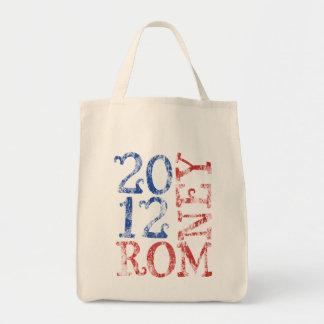 Mitt Romney 2012 Grocery Tote Bag