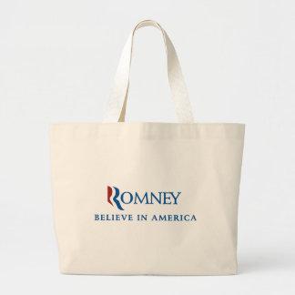 Mitt Romney 2012 Jumbo Tote Bag