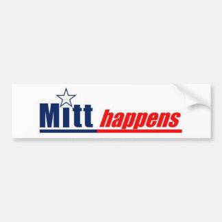 """Mitt Romney 2012 - """"Mitt Hapens"""" Car Bumper Sticker"""