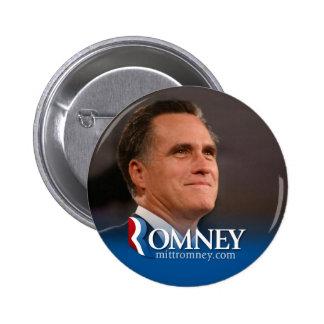 Mitt Romney 2012 - photo pinback 6 Cm Round Badge