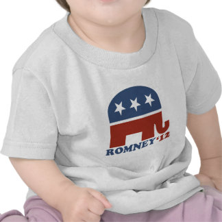 Mitt Romney 2012 Republican Elephant Tee Shirts