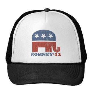 Mitt Romney 2012 Republican Elephant (Vintage) Trucker Hat