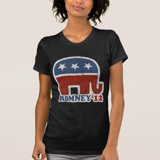 Mitt Romney 2012 Republican Elephant (Vintage) Tee Shirts