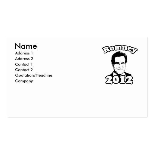 Mitt Romney 2012 Retro Business Card Templates