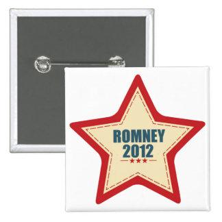 Mitt Romney 2012 Star Election Pins