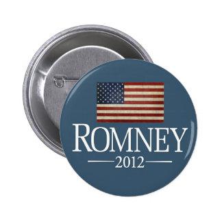 Mitt Romney 2012 - USA Flag 6 Cm Round Badge