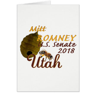 Mitt ROMNEY 2018 Senate Card