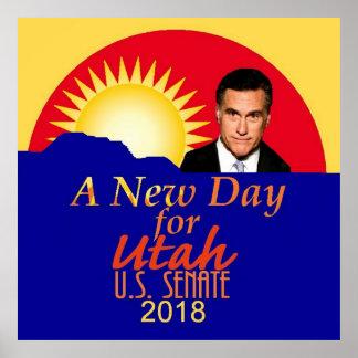 Mitt ROMNEY 2018 Senate Poster