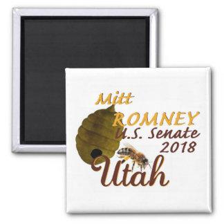 Mitt ROMNEY 2018 Senate Square Magnet
