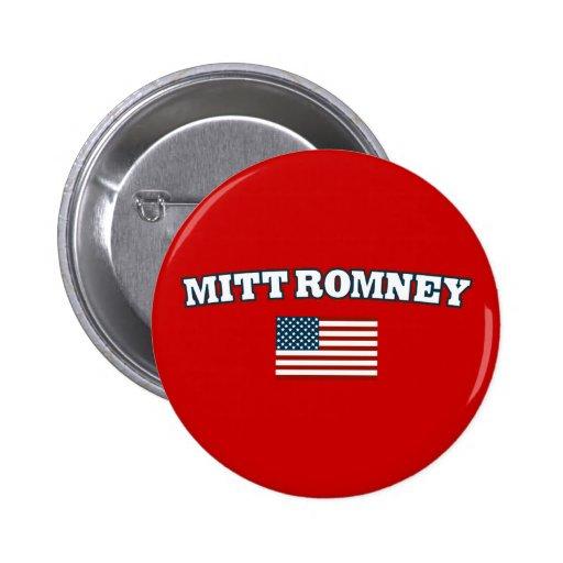 Mitt Romney America Pinback Button