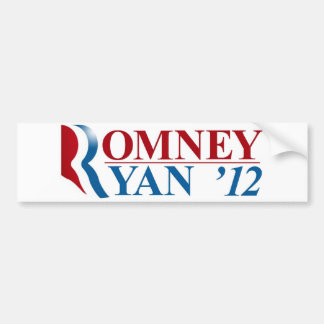 Mitt Romney and Paul Ryan 2012 Bumper Sticker