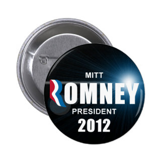 Mitt Romney - Anti Obama 2012 6 Cm Round Badge