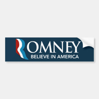Mitt Romney Believe In America Bumper Sticker Blue