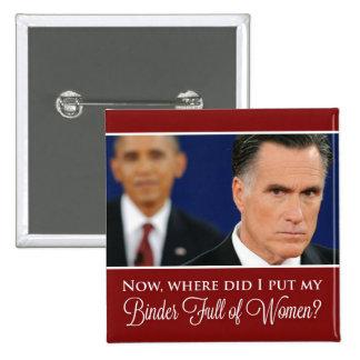 "Mitt Romney ""Binder Full of Women"" Button"