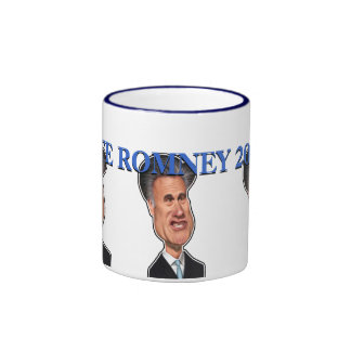 "Mitt Romney Caricature ""Vote Romney 2012"" Coffee Mug"