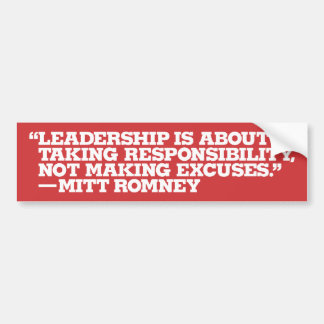 Mitt Romney Conservative Bumper Sticker