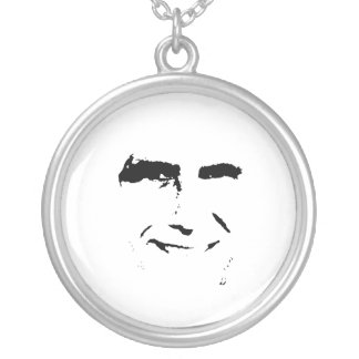 MITT ROMNEY FACE ROUND PENDANT NECKLACE