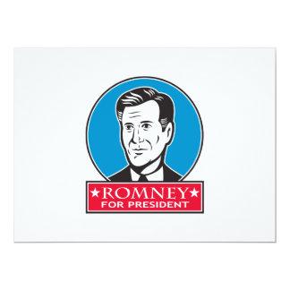 Mitt Romney For American President 17 Cm X 22 Cm Invitation Card