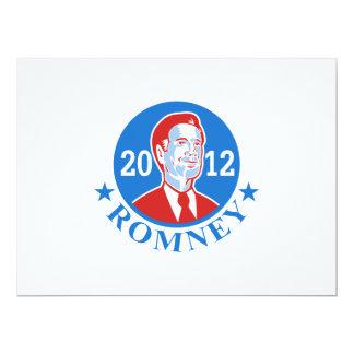 Mitt Romney For American President 2012 17 Cm X 22 Cm Invitation Card