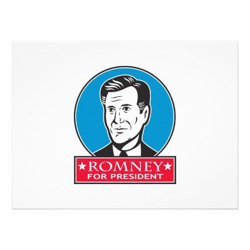 Mitt Romney For American President Custom Invite