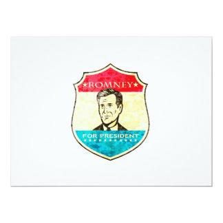 Mitt Romney For American President Shield 17 Cm X 22 Cm Invitation Card