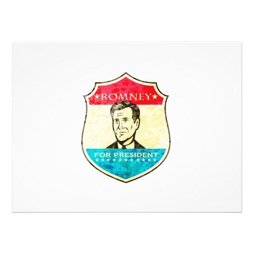 Mitt Romney For American President Shield Personalized Invitation