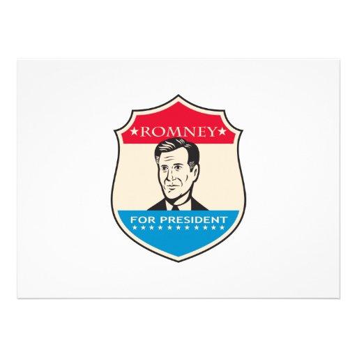 Mitt Romney For American President Shield Invites