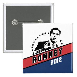 Mitt Romney for President 2012 15 Cm Square Badge