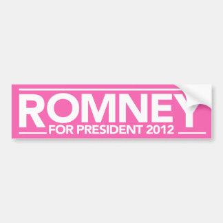 Mitt Romney For President 2012 Bumper Sticker Pink