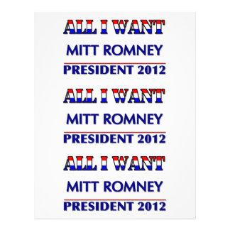 Mitt Romney For President 2012 Personalized Flyer