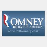Mitt Romney for President 2012 Rectangular Sticker