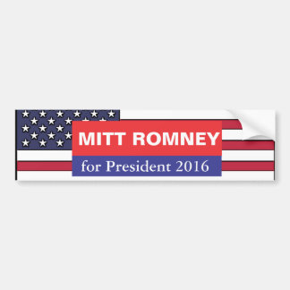 Mitt Romney for President 2016 Bumper Sticker