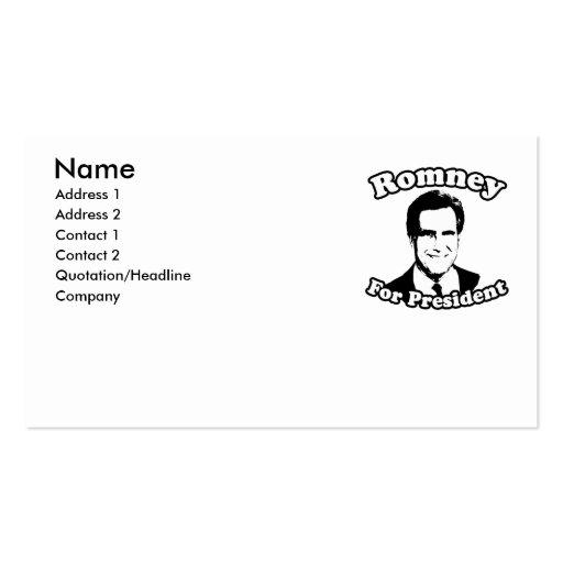 MITT ROMNEY FOR PRESIDENT 2 BUSINESS CARD TEMPLATE