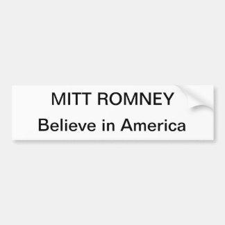 Mitt romney for president car bumper sticker