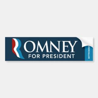Mitt Romney For President Bumper Sticker Dark Blue