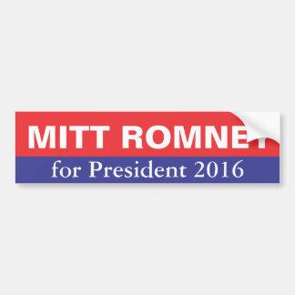 Mitt Romney for President in 2016 Bumper Sticker