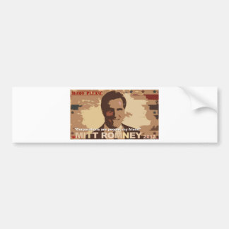 Mitt Romney For President NOT! Bumper Stickers
